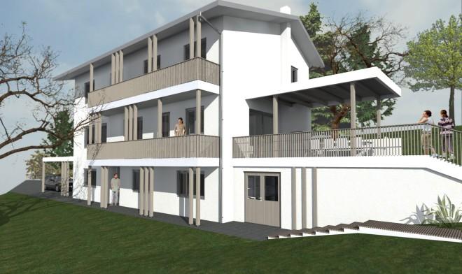 Südfassade visualisiert